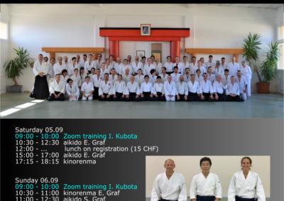 Stage Aïkido & Kinorenma avec Ikuhiro Kubota Shihan, 5-6.09