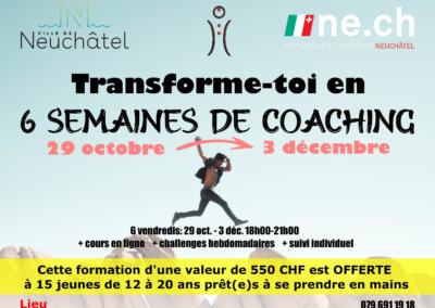 Coaching jeunes 29 octobre – 4 décembre
