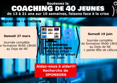 Coaching 40 jeunes 27 mars – 19 juin